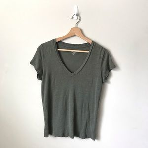 J. Crew Linen T-shirt Top Tee Green S